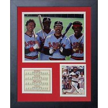 Legends Never Die Los Angeles Angels of Anaheim - 80's Big Four Framed Memorabilia
