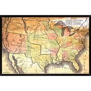 Frame USA 'Map Poster' Framed Graphic Art Print