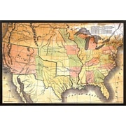 Frame USA 'Map Poster' Framed Graphic Art Print