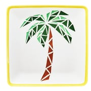 Global Amici Paradise Ceramic Platters in Palm
