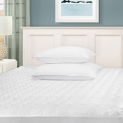 Simple Luxury Superior Hypoallergenic Deep Pocket Quilted 1'' Microfiber Mattress Pad; Queen