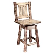 Loon Peak Tustin 24'' Swivel Bar Stool