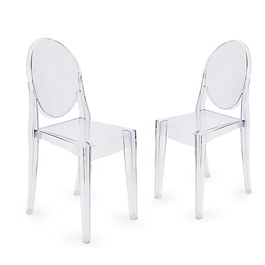 Homebeez Ghost Style Dining Chair (Set of 2)