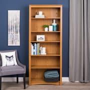 Latitude Run Wanda 77'' Standard Bookcase; Oak