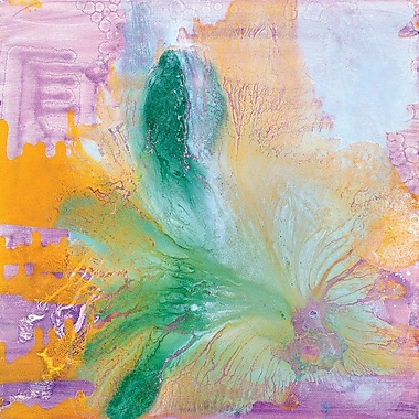 Latitude Run Flower II Painting Print on Wrapped Canvas; 12'' H x 12'' W x 0.75'' D