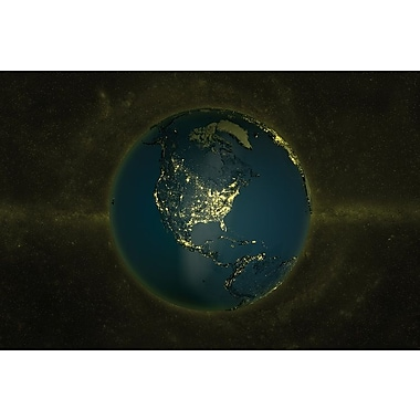 Latitude Run The Globe Series: Lights of The Americas Graphic Art on Wrapped Canvas