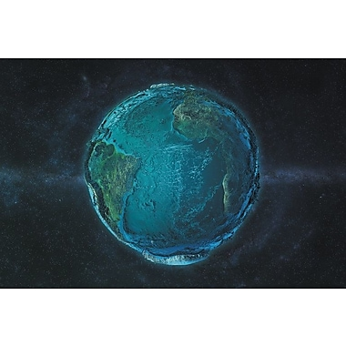 Latitude Run The Globe Series: The Atlantic in Relief Graphic Art on Wrapped Canvas