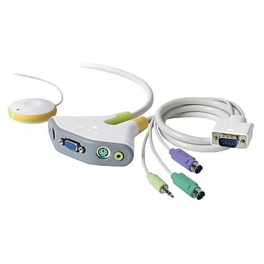 Belkin – Commutateur KVM Flip à 2 ports avec support audio (F1DG102P)
