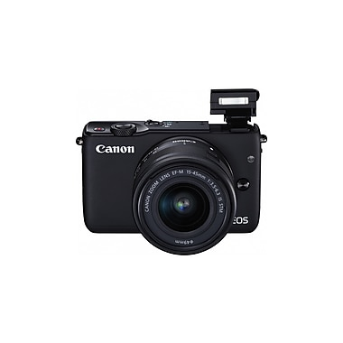 Canon EOS M10 Mirrorless Digital Camera with EF-M 15-45 mm IS STM Lens Kit, 18.0 MP, Black (0584C011)