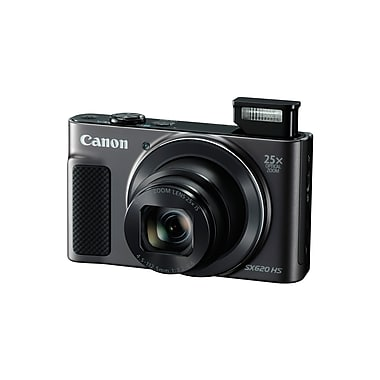 Canon PowerShot SX620 HS Digital Camera, 20.2 MP, 25x Optical Zoom, Black (1072C001)