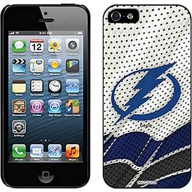 NHL Tampa Lightning Cell Phone Fitted Case for Apple iPhone 5/5S, White Away (CVR-NHL-IP5-TLA)