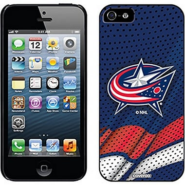 NHL Columbus Bluejackets Cell Phone Fitted Case for Apple iPhone 5/5S, Blue Home (CV-NHL-IP5-CBJH)