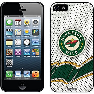 NHL Minnesota Wild Cell Phone Fitted Case for Apple iPhone 5/5S, White Away (CVR-NHL-IP5-MWA)