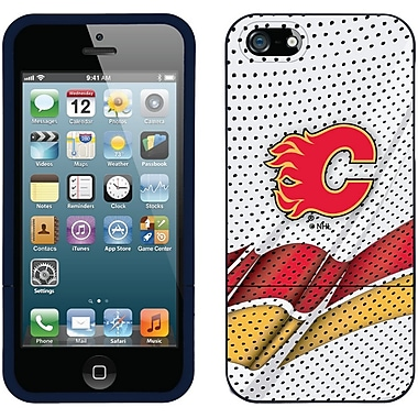 NHL Calgary Flames Cell Phone Fitted Case for Apple iPod Touch 4, Black Away (CVR-NHL-IT4-CFA)