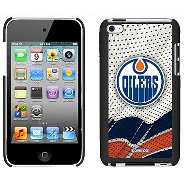 NHL Edmonton Oilers Cell Phone Fitted Case for Apple iPod Touch 4, Black Away (CVR-NHL-IT4-EOA)