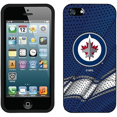 NHL Winnipeg Jets Cell Phone Fitted Case for Apple iPhone SE, Blue (CV-NHL-I5-WJA-B)