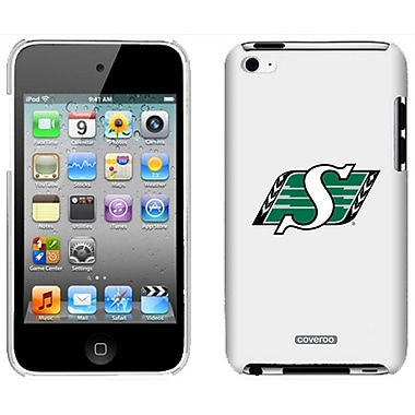 CFL - Roughriders de la Saskatchewan, étui ajusté pour Apple iPod Touch 4, blanc (CFL-IT4-SRPR-WH)