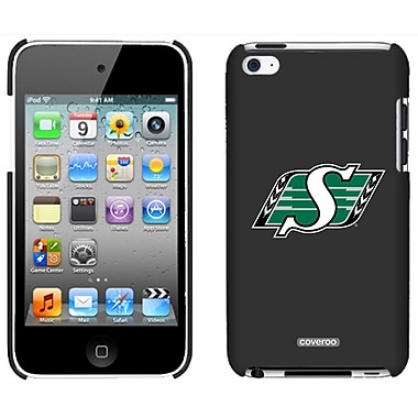 CFL Saskatchewan Roughriders Cell Phone Fitted Case for Apple iPod Touch 4, Black (CFL-IT4-SRPR-BK)