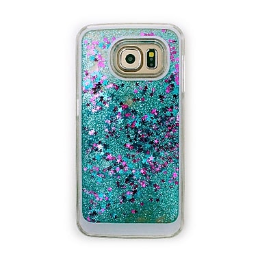 Zanko Moving Stars Cell Phone Fitted Case for Samsung Galaxy S6, Blue (ZKH-MST-GS6-BL)
