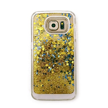 Zanko Moving Stars Cell Phone Fitted Case for Samsung Galaxy S6, Gold (ZKH-MST-GS6-GD)
