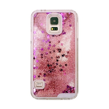 Zanko Moving Stars Cell Phone Fitted Case for Samsung Galaxy S5/S5 Neo, Pink (ZKH-MST-GS5-PK)