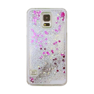 Zanko Moving Stars Cell Phone Fitted Case for Samsung Galaxy S5/S5 Neo, Silver (ZKH-MST-GS5-SL)