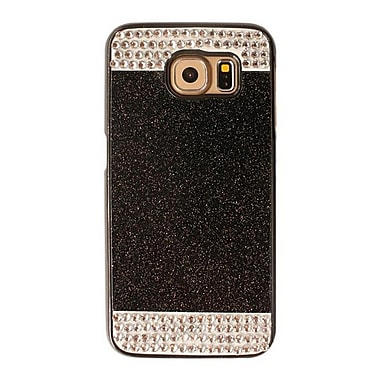 Zanko Shimmering Cell Phone Fitted Case for Samsung Galaxy S6, Black (ZKH-RS-GS6-BK)