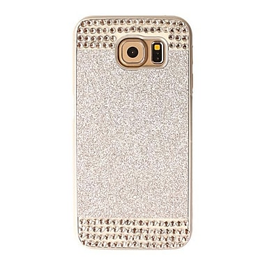 Zanko Shimmering Cell Phone Fitted Case for Samsung Galaxy S6, Silver (ZKH-RS-GS6-SL)