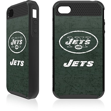 Skin-It - Étui ajusté Cargo pour iPhone 4/4S, Jets de New York, noir (SI-IP4-NFL-NYJ)