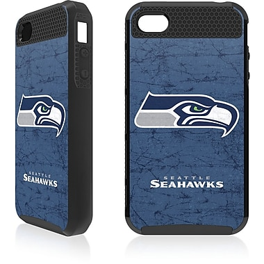 Skin-It Seattle Seahawks Cargo Cell Phone Fitted Case for Apple iPhone 4/4S, Black (SI-CG-I4-NFL-SS)