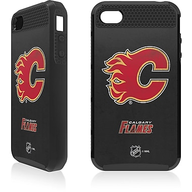 Skin-It Calgary Flames Cargo Cell Phone Fitted Case for Apple iPhone 4/4S, Black (SI-CG-I4-NHL-CF)