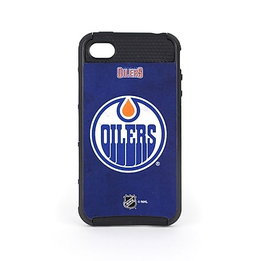 Skin-It Edmonton Oilers Cargo Cell Phone Fitted Case for Apple iPhone 4/4S, Black (SI-CG-I4-NHL-EO)
