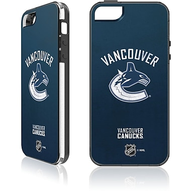 Skin-It Vancouver Canucks Cell Phone Fitted Case for Apple iPhone SE, Navy (SI-LN-I5-NHL-VC)