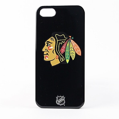 Skin-It Chicago Blackhawks LeNu Cell Phone Fitted Case for Apple iPhone 5/5S, Black (SI-L-IP5-NHL-CB)