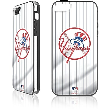 Skin-It New York Yankees Home Cell Phone Fitted Case for Apple iPhone SE, White (SI-IP5-MLB-NYY)