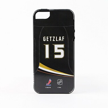 Skin-It Anaheim Ducks Ryan Getzlaf Cell Phone Fitted Case for Apple iPhone SE, Black (SI-I5-NHL-AD15)