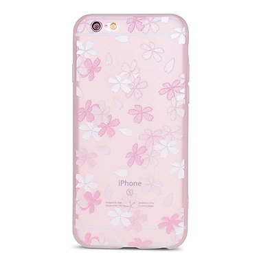 Zanko Cell Phone Fitted Case for Apple iPhone 6/6S, Frosted Pink/White Small Lilly (ZKT-IP6-FLR-SLY)