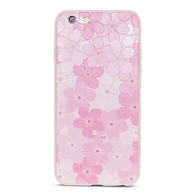 Zanko Cell Phone Fitted Case for Apple iPhone 6/6S, Frosted Pink/White Big Lilly (ZKT-IP6-FLR-BLY)