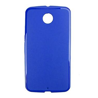 Zanko - Étui ajusté TPU pour téléphone cellulaire Google Nexus 6, bleu (ZKT-NX6-BL)