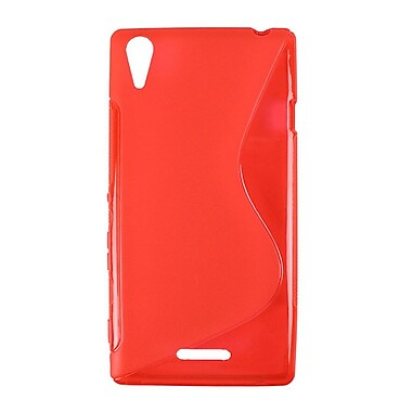 Zanko TPU Cell Phone Fitted Case for Sony Xperia T3, Red (ZKT-SXT3-RD)