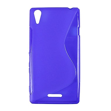 Zanko TPU Cell Phone Fitted Case for Sony Xperia T3, Blue (ZKT-SXT3-BL)