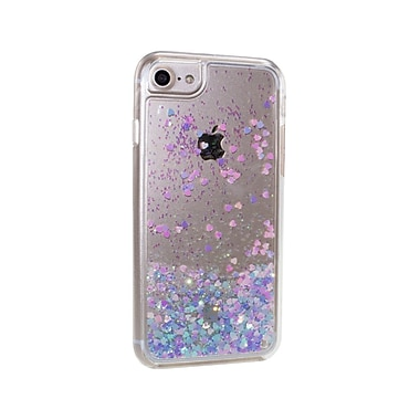 Caseco Glitter Cell Phone Fitted Case for Apple iPhone 6S/7, Hearts (WXLG-iP7-LNH)
