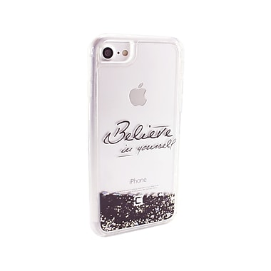 Caseco Glitter Cell Phone Fitted Case for Apple iPhone 6S/7, Believe (WXLG-iP7-BLV)