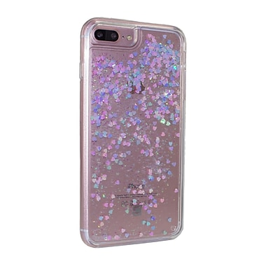 Caseco Glitter Cell Phone Fitted Case for Apple iPhone 6S/7 Plus, Lenticular Hearts (WXLG-iP7P-LNH)