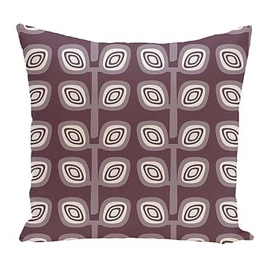 Latitude Run Melba Leaf Tree Geometric Print Throw Pillow; Purple