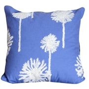 Latitude Run Genevieve Embroidered Cotton Throw Pillow; Blue