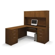 Latitude Run Karyn L-Shape Executive Desk; Tuscany Brown