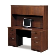 Latitude Run Karyn Computer Desk w/ Hutch; Tuscany Brown