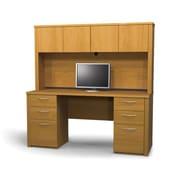 Latitude Run Karyn Computer Desk w/ Hutch; Cappuccino Cherry