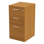 Latitude Run Ralph 3 Drawer Full Pedestal; Cappuccino Cherry